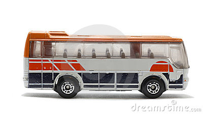 Isolated toy bus