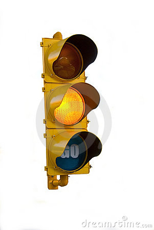 Isolated Traffic Light