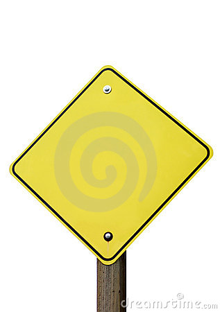 Isolated traffic sign