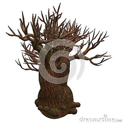 Free Isolated Tree Illustration Royalty Free Stock Images - 4226089