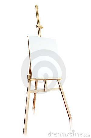 Free Isolated Tripod And Canvas Stock Photo - 14732730