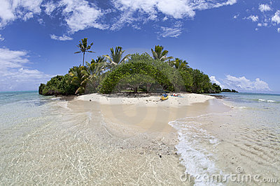 Isolated tropical island, Fiji