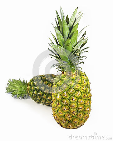 Isolated two pineapple