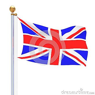 Isolated United Kingdom flag