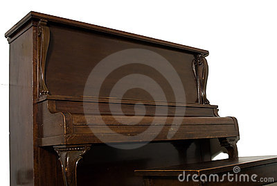 Isolated Upright Piano