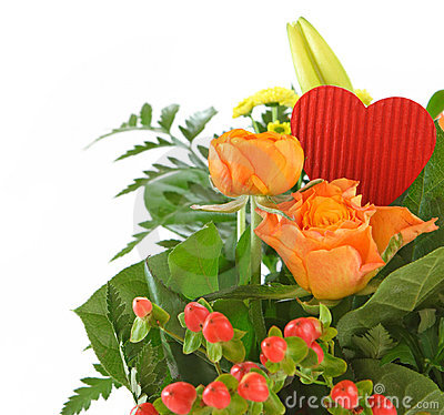 Isolated Valentine bouquet
