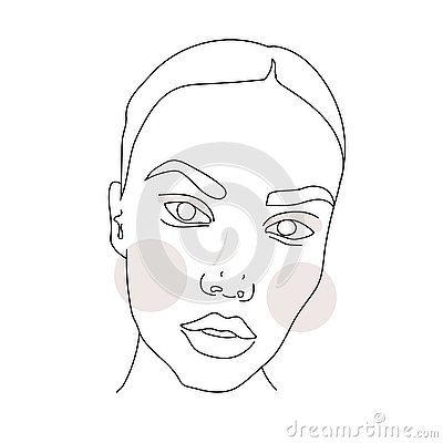 Free Печатьisolated Vector Hand Drawn, Woman, One Line, Abstract Sketch, Lines Drawing, Figure Of A Woman Or Young Girl. Stock Photography - 139280542
