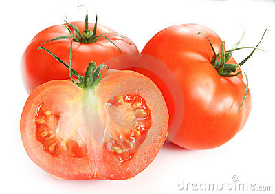 Isolated vegetables - Tomatoes