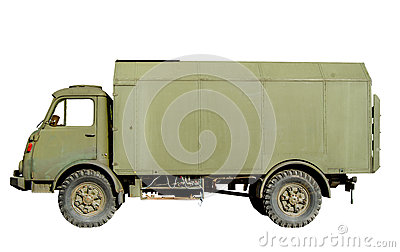 Isolated Vintage Army Truck