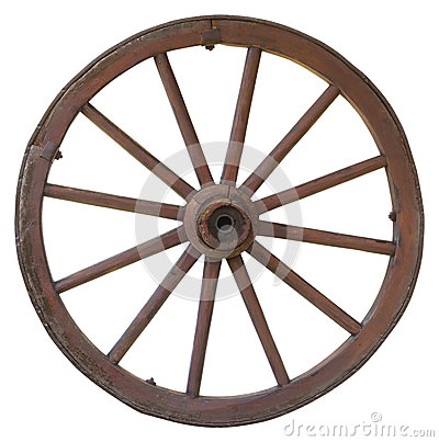 Free Isolated Vintage Carriage Wheel Royalty Free Stock Photos - 25531098