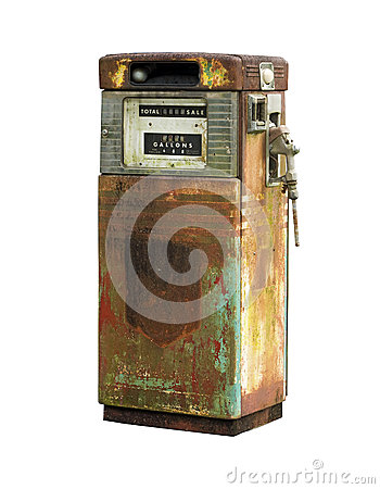 Free Isolated Vintage Fuel Pump Royalty Free Stock Image - 31035146