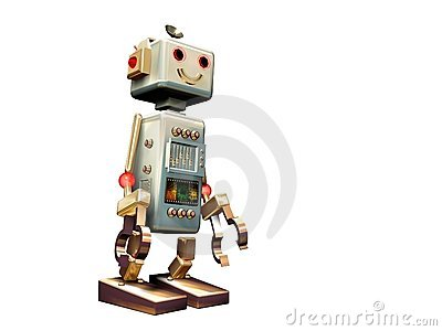 Isolated vintage robot