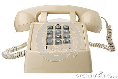 Isolated vintage telephone