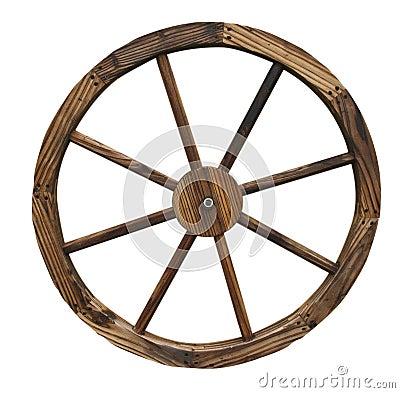 Isolated Wagon Wheel