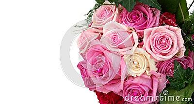Isolated wedding bouquet