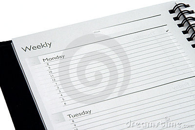 Isolated Weekly Planner