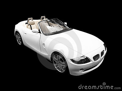 Isolated white car front view