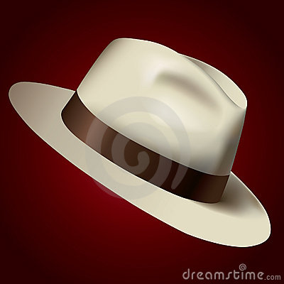 Isolated white hat