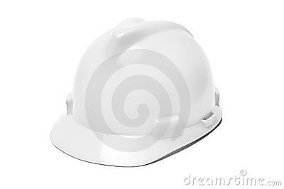 Isolated white helmet