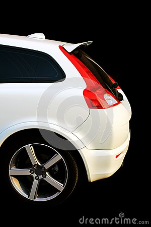 Isolated white sport car
