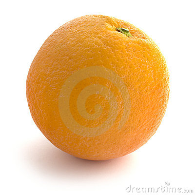 Free Isolated Whole Orange Royalty Free Stock Photography - 3635807