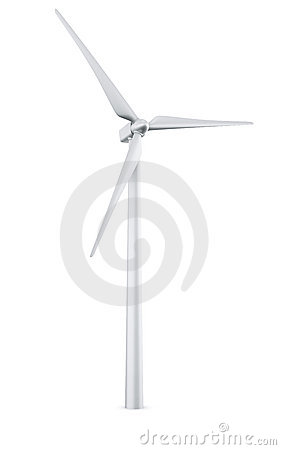 Isolated wind turbine