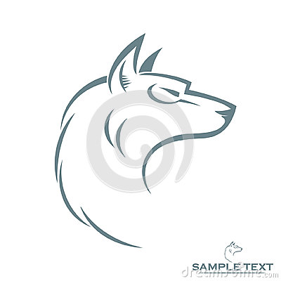 Isolated wolf head