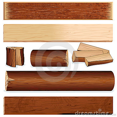 Free Isolated Wood Elements Royalty Free Stock Images - 16171569
