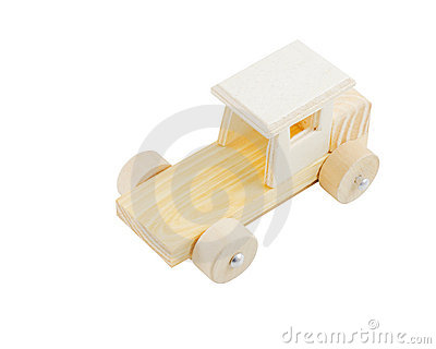 Isolated wooden toy