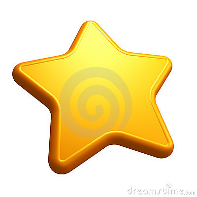 Isolated yellow star