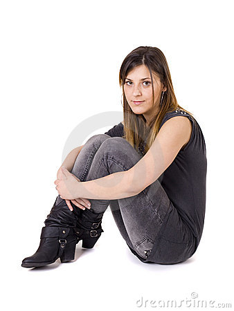 Isolated young woman