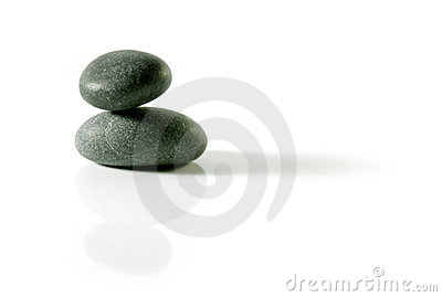 Isolated zen rocks