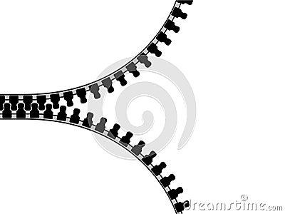 Isolated zipper