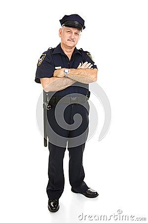 Isolerad polis för huvuddel full
