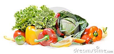 Isolerade grönsaker