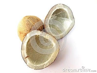 Isolerade kokosnötter