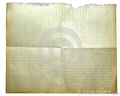 Isolerat gammalt papper