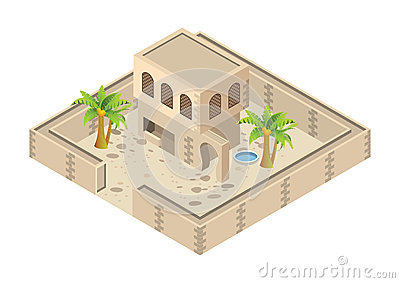 isometric arab house