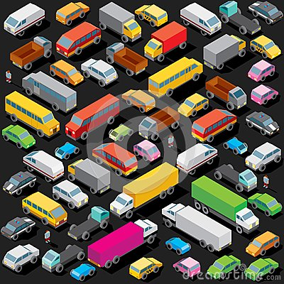 Free Isometric Cars Parking. Vector Image Royalty Free Stock Photography - 102033827