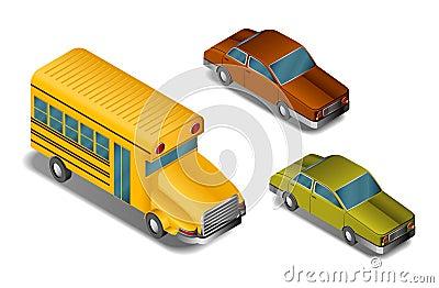 Isometric cars- vector