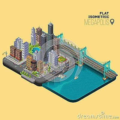 Free Isometric City,megapolis Concept Stock Photography - 64521172