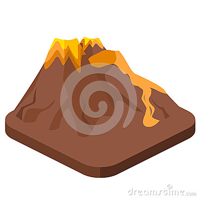 Free Isometric Flat 3D Isolated  Volcano Magma Nature Blowing Up Royalty Free Stock Image - 89502126