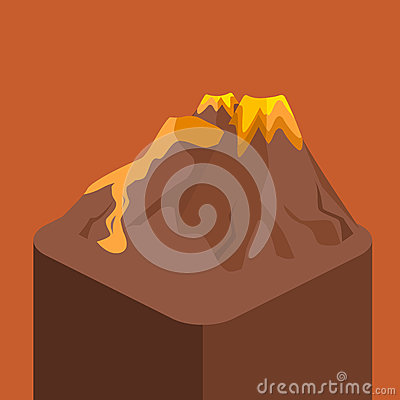 Free Isometric Flat 3D   Volcano Magma Nature Blowing Up Royalty Free Stock Photo - 89502135