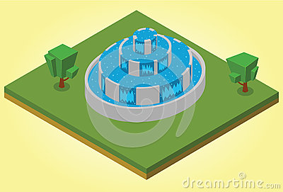 Isometric fountain