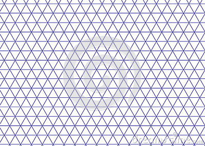 Isometric grid blue. Triangle line background vector. Vector Illustration