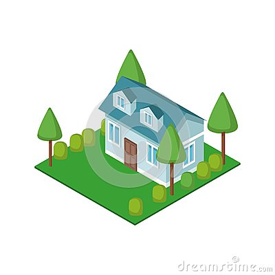 Free Isometric House 3d Stock Photography - 108530922