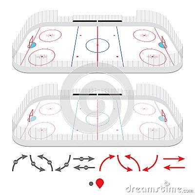 Isometric ice hockey rink