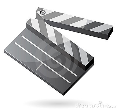 Isometric icon of clapper board