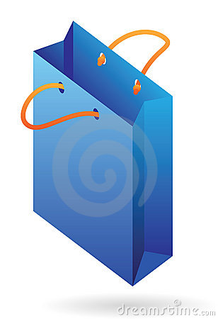 Isometric icon of paper bag