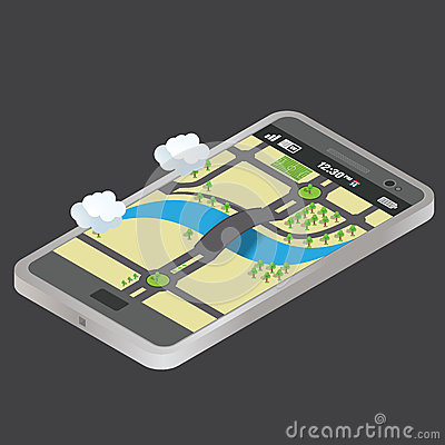 Isometric mobile phone